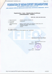 FOIEO Certificate of ornate